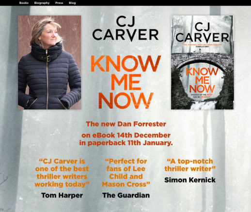 CJ Carver – Best Selling Author